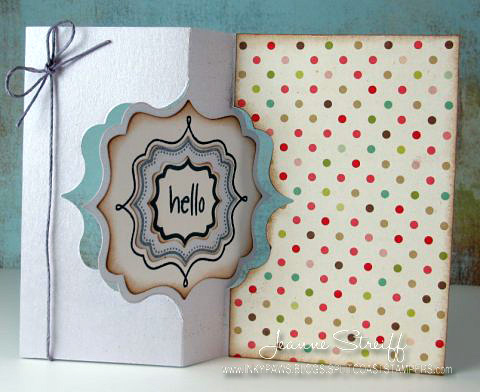 c4947e539 cards by cara  Folded Cards - Flip Flop   Swing Card