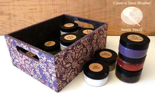 Stenciled Caddy Earth_Safe_Finishes Jeanne_Streiff