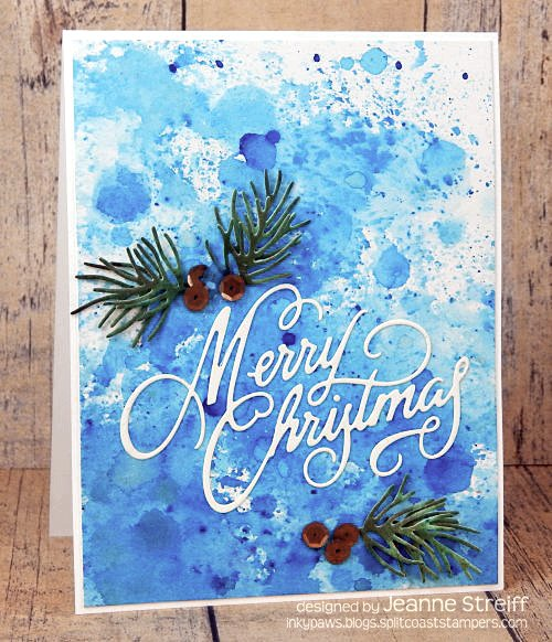 Blue Merry Christmas Jeanne_Streiff