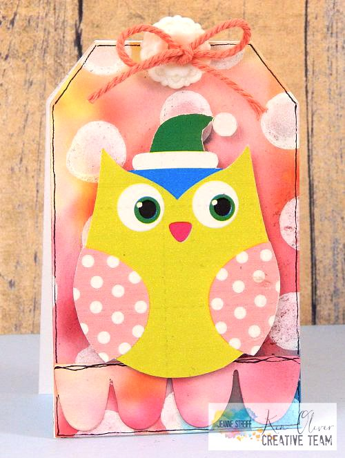 Owl Tag card 1 Jeanne_Streiff Color_Burst