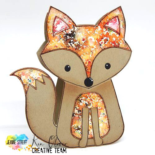 Color Burst Fox Card Jeanne_Streiff 1