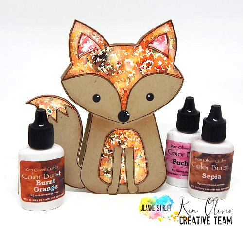 Color Burst Fox Card Jeanne_Streiff