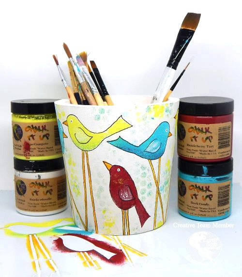 Birdy Brush Holder Jeanne_Streiff