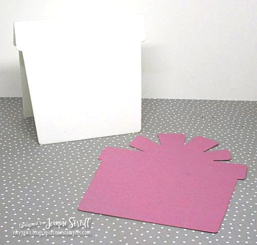 1 Birthday Present Shaped Card Jeanne_Streiff