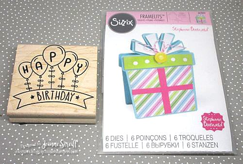 1a Birthday Present Shaped Card Jeanne_Streiff